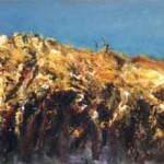 Graan 2005. Acryl op linnen, 60 x 140 cm; verkocht