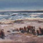 Vlieland 2007. Acryl op linnen, 25 x 70 cm.
