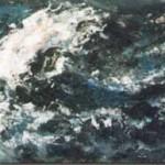 Windkracht7 2005. Acryl op linnen, 150 x 50 cm. Verkocht