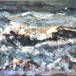 Zee 2005. Acryl op linnen, 50 x 70 cm.