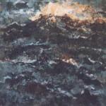 Zee 2005. Acryl op linnen, 40 x 40 cm.
