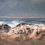 Zee en duin 2005. Acryl op linnen, 50 x 70 cm.