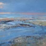 Laag water 2011 - acryl op linnen - 115 bij 140 cm