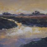 Landschap met gele lucht, 2016. Acryl op linnen, 60 bij 120 cm; verkocht