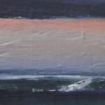 Kwelder C.C. polder, 2015. Gemengde techniek op hout,11 bij 40 cm ; verkocht